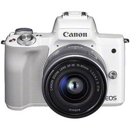 Canon EOS M50 Body With EF-M 15-45mm IS STM Lens Kit - White Thumbnail Image 0